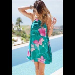 SMYM Katy Halter Dress in Lei Bay